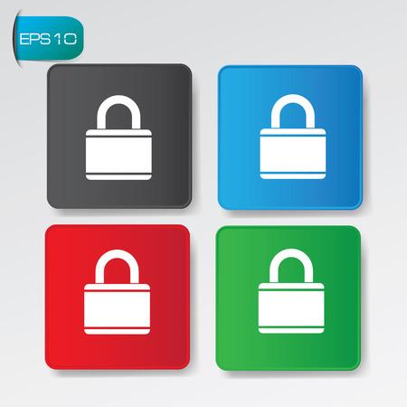 forbidden to pass: Lock buttons,vector