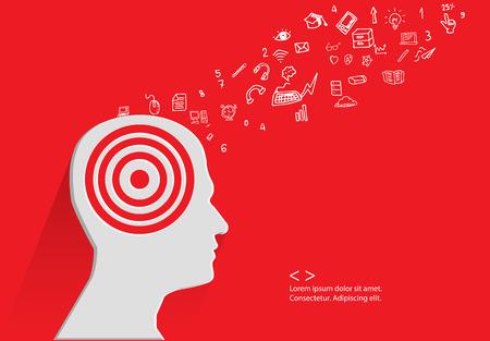 categorize: Brain storm concept,vector