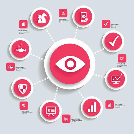 Strategy info graphic design,vector Vector