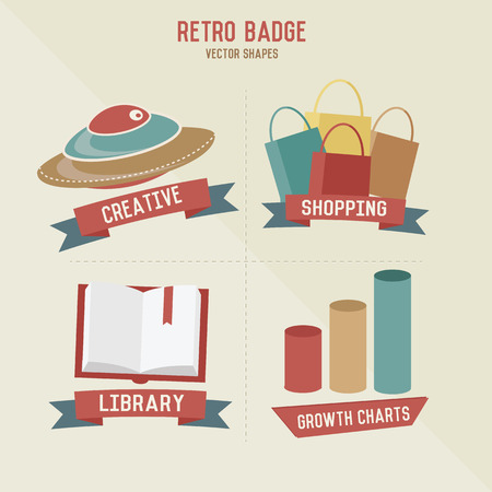 Retro education   business icons,vector Vector