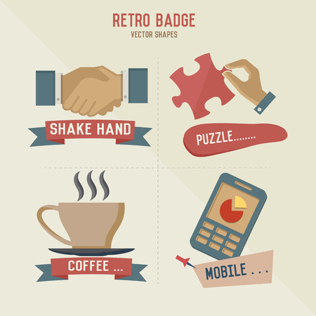 bar magnet: Retro business icons,vector