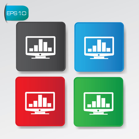 Profit buttons,vector Illustration