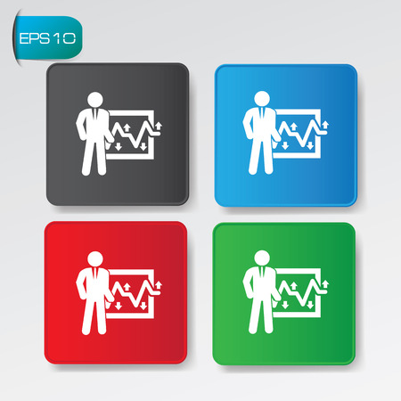Business people buttons,vector Vector