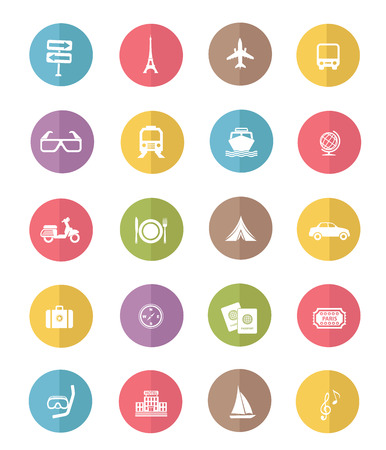 transport icon: Travel and transport icon set,color vector