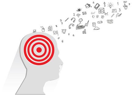 brain storm: Brain storm concept,vector