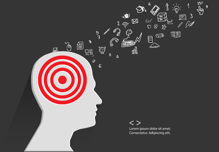 Brain storm concept,vector