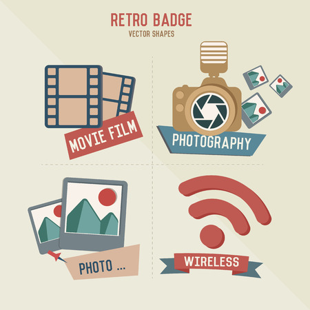 finder: Iconos fotograf�a inal�mbricos Retro, vector Vectores