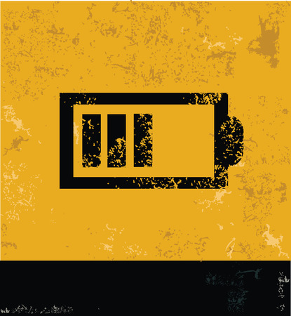 Battery Symbol,yellow vector Vector