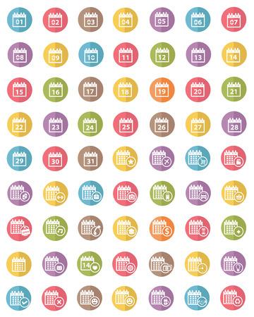 Calendar icons,colors vector Stock Vector - 30132739