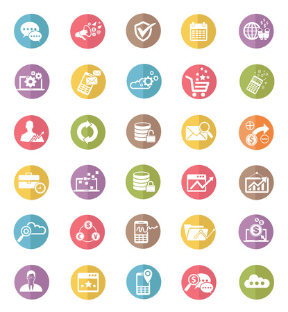 web icons: Web and business marketing icons design clean