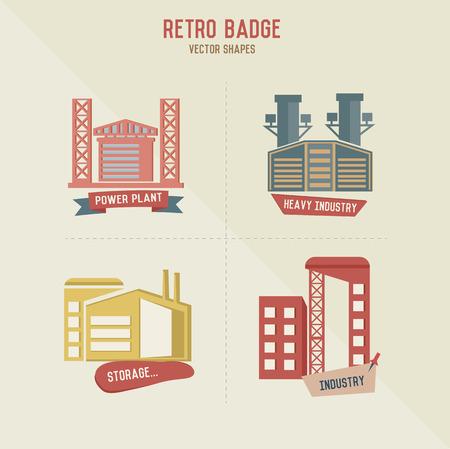 Factory symbol retro design,vector Vector
