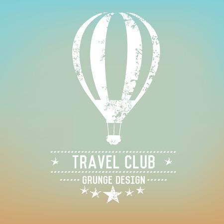 Balloon badge grunge symbol on blur background,vector Vector