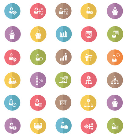 Human resource   business concept icons,colors vector Vector