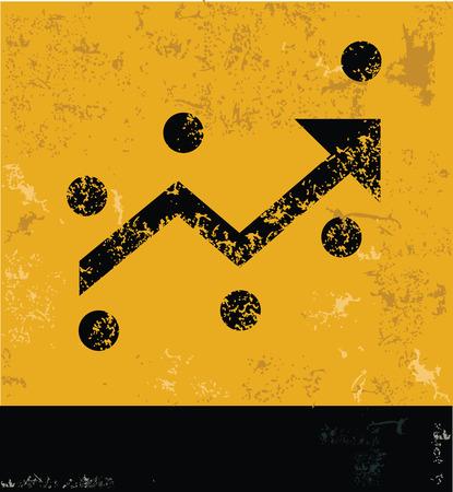 accretion: Analysis grunge symbol,yellow vector