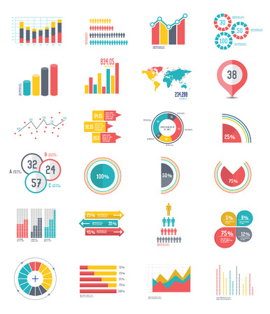 compute: 24 icons Infographics Data analysis on white background,vector