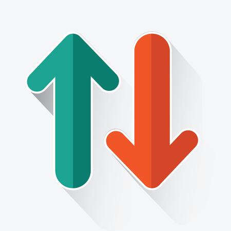 flechas: Las flechas arriba y abajo, vector