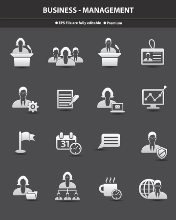 organized group: Human resource icons,vector Illustration
