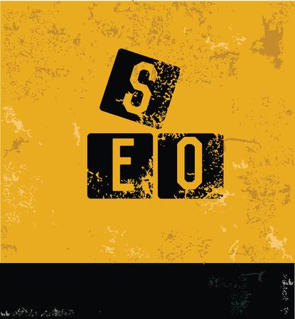 SEO yellow design,grunge vector Vector