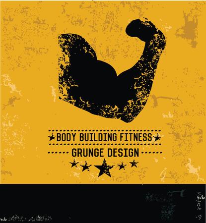 Fitness gym design,grunge vector Vector