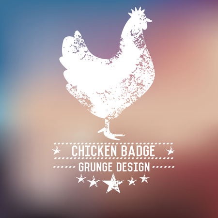 chicken wing: Chicken grunge design,vector