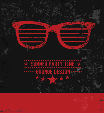 Glasses symbol grunge design,vector Vector