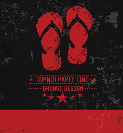 lightweight: Sandal symbol grunge design,vector