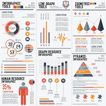 piramide humana: 3 Grandes columna infografía elementos conjunto de vectores para sus proyectos para hacer, vector Vectores