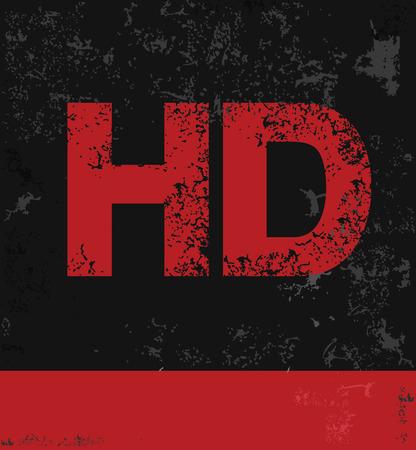 HD symbol grunge design,vector Vector