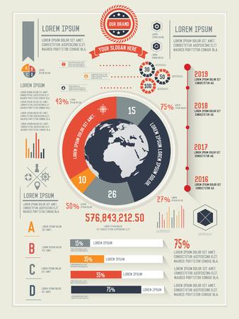 demografia: Informaci�n global y negocio de dise�o gr�fico limpio