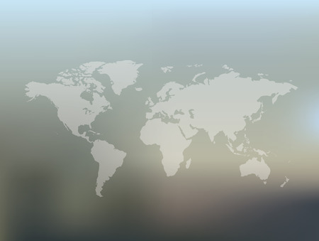 Map of the world on blur background,clean vector