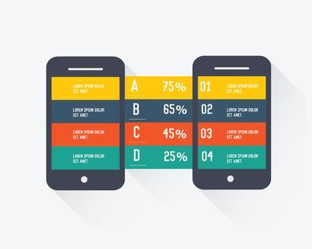 Mobile info graphic design,clean vector Vector