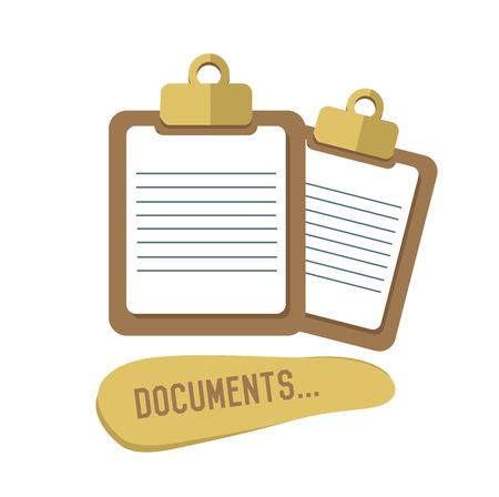 Document concept design,retro design on white background,clean vector Vector