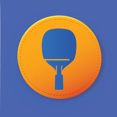 Table tennis symbol on button,vector Vector
