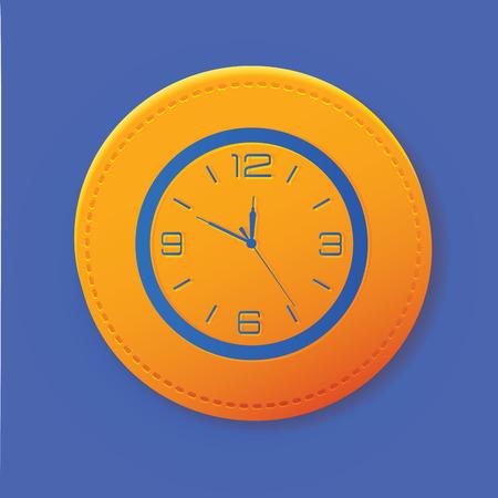 arousing: Clock symbol on button,vector Illustration