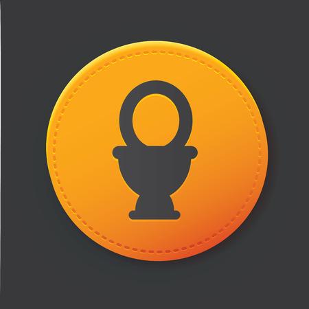 Toilet button,clean
