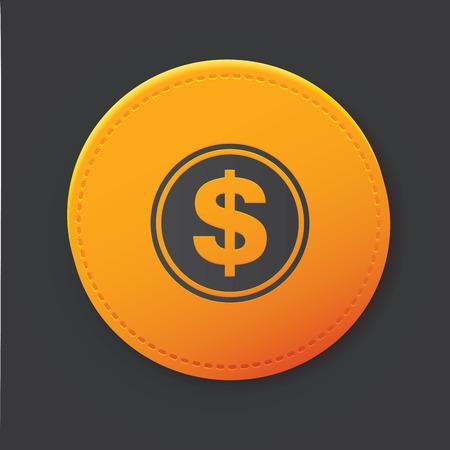 monet: Dollar button,clean
