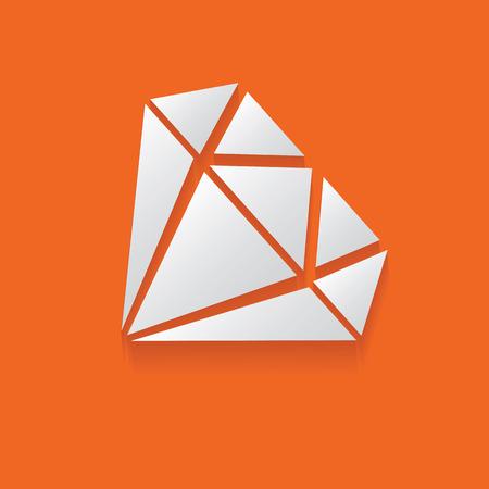 Diamond symbol,clean vector Vector