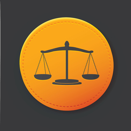 fair trial: Justice law button Illustration