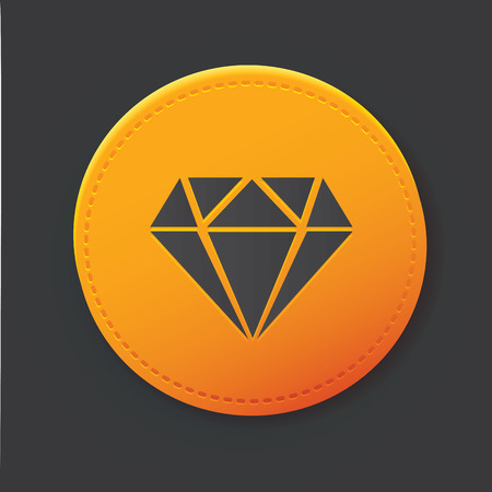 Diamond button Illustration