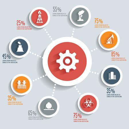 hazardous work: Industrial info graphic design concept Illustration