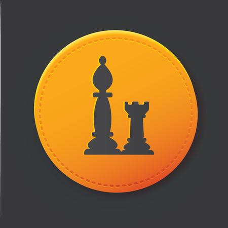 Chess button Vector