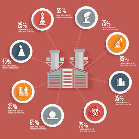 net trade: Industry info graphic design concept Illustration