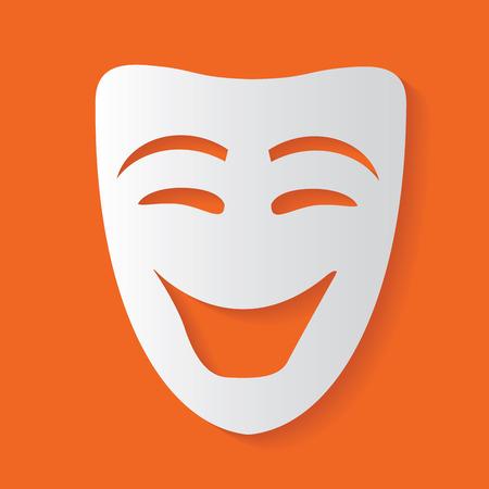 Máscara de la sonrisa, vector limpia