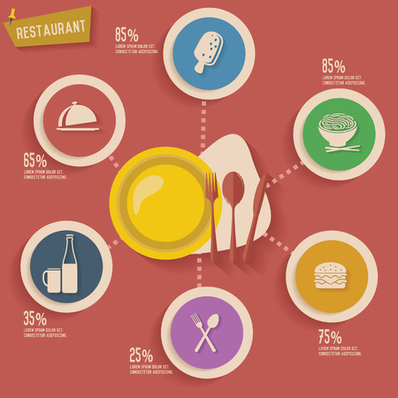Food concept info graphic design Vector