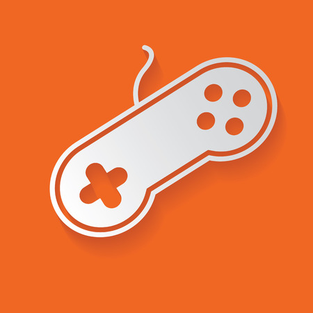 web desig: Game symbol Illustration