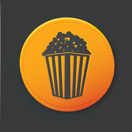 hot tub: Popcorn button Illustration