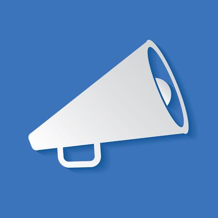 fortalecimiento: S�mbolo del meg�fono Vectores
