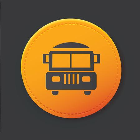 School bus button,clean vector Vector