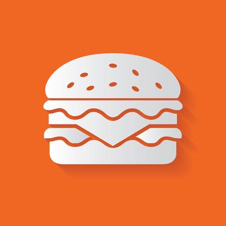 unhealthy food: Hamburger symbol Illustration