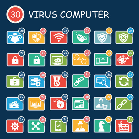 computer security: Virus computer,computer security,technology icons
